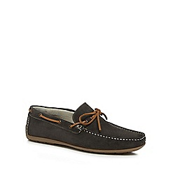 J by Jasper Conran - Grey suede 'Knight' moccasins
