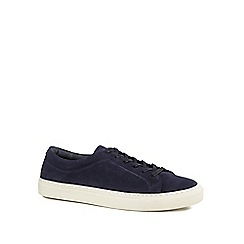J by Jasper Conran - Navy suede 'Tuscany' trainers