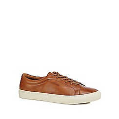 J by Jasper Conran - Tan leather 'Sorrento' trainers