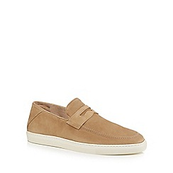 J by Jasper Conran - Natural suede 'Sardinia' slip on shoes