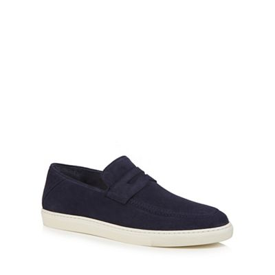 J by Jasper Conran - Navy shoes suede 'Sardinia' slip on shoes Navy 4433e1