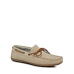 J by Jasper Conran - Cream suede 'Knight' moccasins