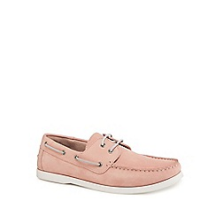 Hammond & Co. by Patrick Grant - Pink 'Yale' boat shoes