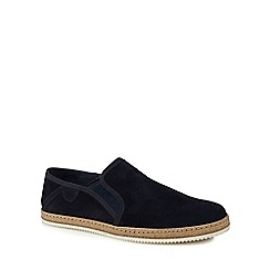 Hammond & Co. by Patrick Grant - Navy suede 'Hemel' slip on shoes