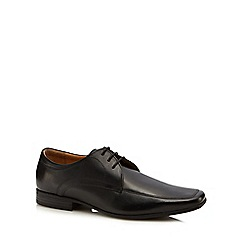 Henley Comfort - Black leather 'Stanley' Derby shoes