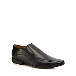 Henley Comfort - Black leather 'Norman' slip-on shoes