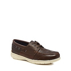 Henley Comfort - Brown leather 'Alan' boat shoes