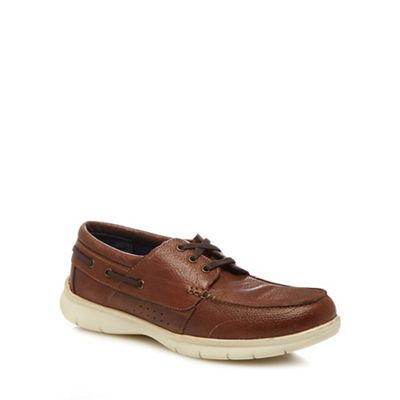 Henley Comfort - Tan leather 'Alan' boat shoes