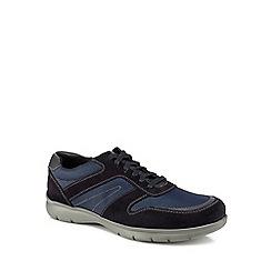 Henley Comfort - Blue suede 'Edward Flex' trainers