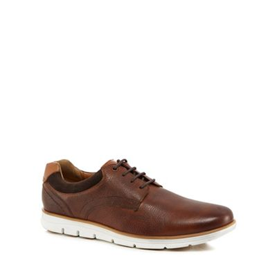Henley Comfort - Tan leather 'Paul' wide fit Derby shoes