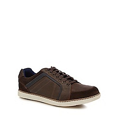 Henley Comfort - Brown leather 'Colin' trainers