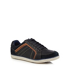 Henley Comfort - Navy leather 'Colin' trainers