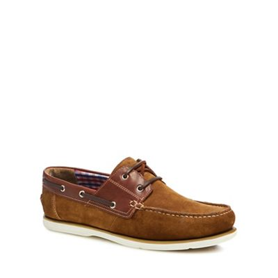 Maine New England - Tan suede 'Pontoon' boat shoes