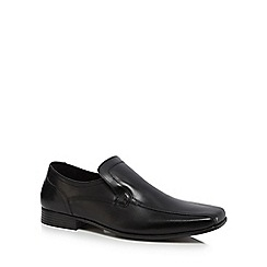 The Collection - Black leather 'Jeremy' slip-on shoes