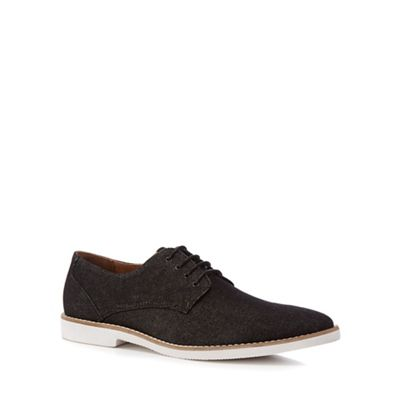 Red Herring - Black denim 'Toulon' Derby shoes