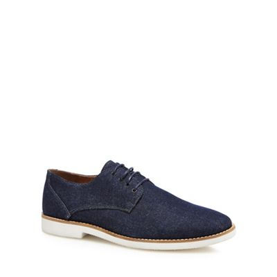 Red Herring - Navy denim 'Toulon' Derby shoes