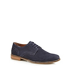 Red Herring - Navy suede 'Donte' Derby shoes