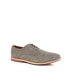Red Herring - Grey suede 'Strasbourg' Derby shoes