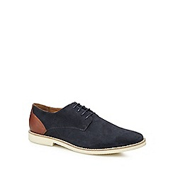 Red Herring - Navy suede 'Rennes' Derby shoes