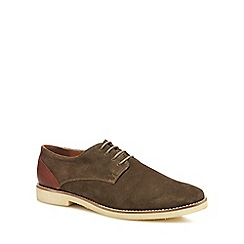 Red Herring - Khaki suede 'Rennes' Derby shoes