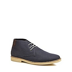 Red Herring - Navy canvas 'Normandy' chukka boots