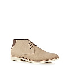 Red Herring - Taupe canvas 'Normandy' chukka boots