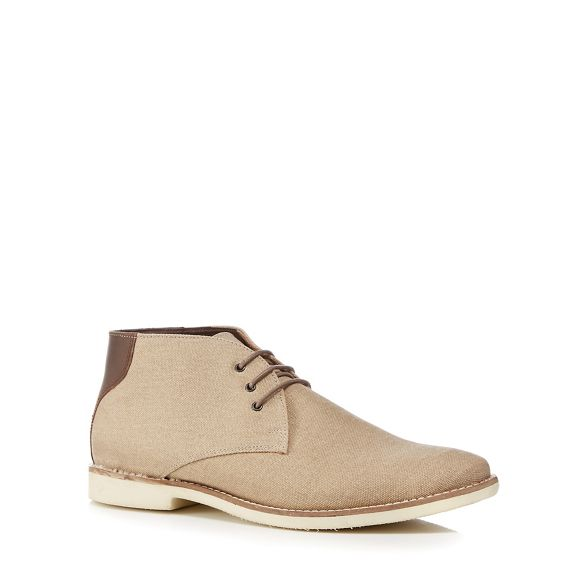 'Normandy' Herring Red Taupe chukka canvas boots tdFqnq