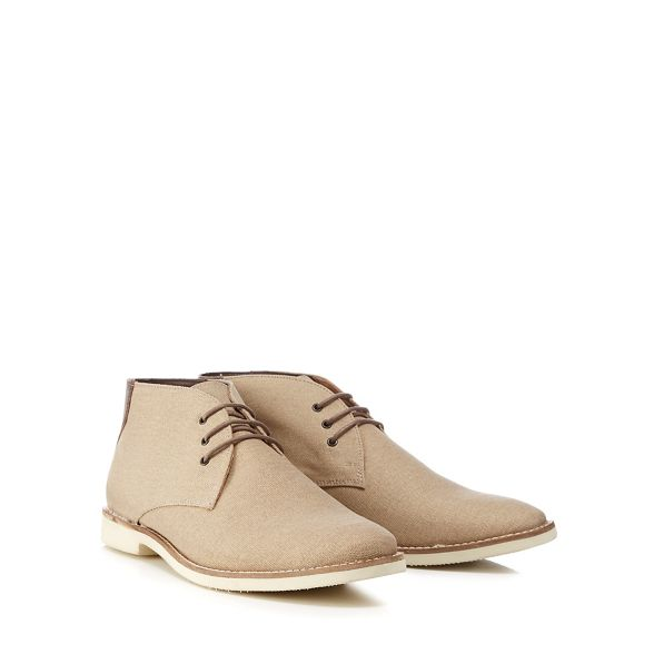 chukka boots Taupe 'Normandy' Red canvas Herring w5X4fnnIqx
