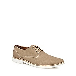 Red Herring - Brown canvas 'Margaux' Derby shoes