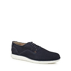 Red Herring - Navy suede 'Etienne' Derby shoes