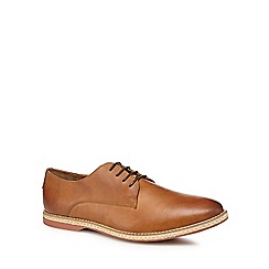 Red Herring - Tan leather 'Strasbourg' Derby shoes