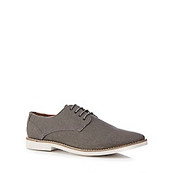 Red Herring - Grey canvas 'Margaux' Derby shoes