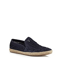 Red Herring - Navy suede 'Morley' slip on espadrilles
