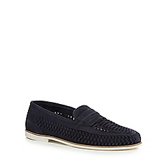 Red Herring - Navy suede 'Pizzorno' loafers