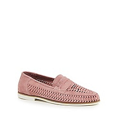 Red Herring - Pink suede 'Pizzorno' loafers