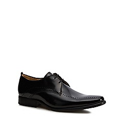 Jeff Banks - Black leather 'Zinc' Derby shoes