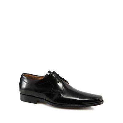 Jeff Banks - Black leather 'Kenneth' Derby shoes