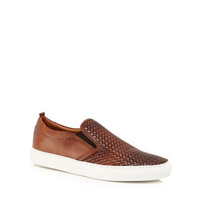 J by Jasper Conran - Tan leather 'Sicily' slip on trainers
