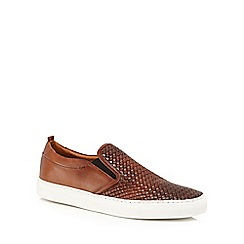 J by Jasper Conran - Tan leather 'Sicily' slip on trainers