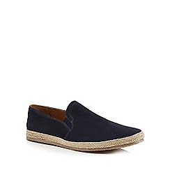 Red Herring - Navy suede 'Provence' slip on espadrilles