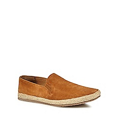 Red Herring - Tan suede 'Provence' slip on espadrilles
