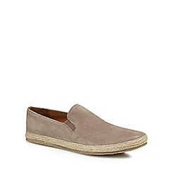 Red Herring - Taupe suede 'Provence' slip on trainers