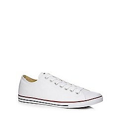 Converse - White canvas 'Chuck Taylor' trainers
