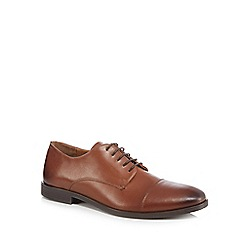 Red Herring - Dark tan leather 'Noah' Derby shoes