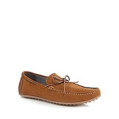 Red Herring - Tan suede 'Dreux' boat shoes