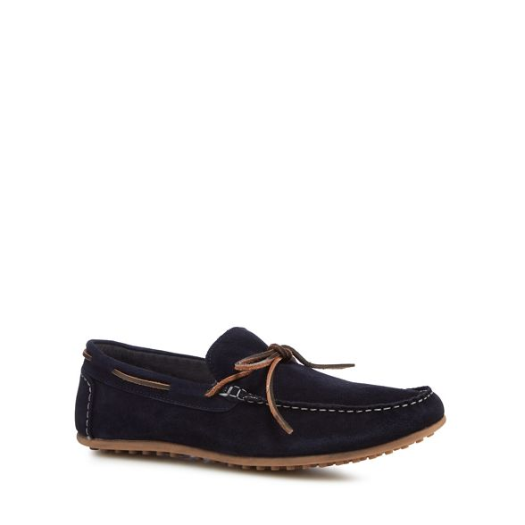 Herring suede shoes Navy 'Dreux' Red driver xnwRfCqO0