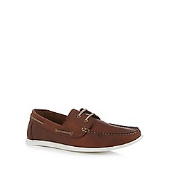 Red Herring - Dark tan 'Albi' boat shoes