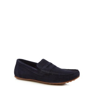 Red Herring - Navy suede 'Speed' loafers