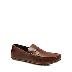 Red Herring - Brown leather 'Speed' loafers