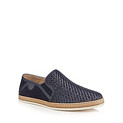 Hammond & Co. by Patrick Grant - Navy 'Francis' woven slip on shoes